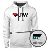 Contemporary Sofspun White Hoodie-Cardinal Head UIW