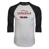 White/Black Raglan Baseball T-Shirt-Baseball