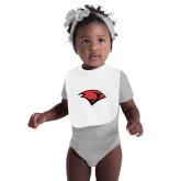 White Baby Bib-Cardinal Head
