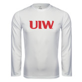 Performance White Longsleeve Shirt-UIW