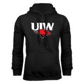Black Fleece Hood-UIW Cardinal Head Stacked