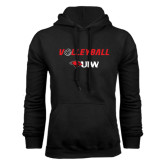Black Fleece Hoodie-Volleyball with Ball