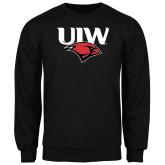 Black Fleece Crew-UIW Cardinal Head Stacked