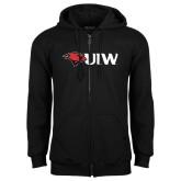 Black Fleece Full Zip Hoodie-Cardinal Head UIW