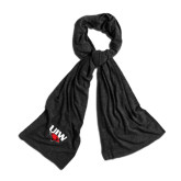 Black Eco Jersey Bundle Up Scarf-UIW Cardinal Head Stacked