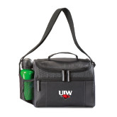 Edge Black Cooler-UIW Cardinal Head Stacked