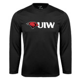 Performance Black Longsleeve Shirt-Cardinal Head UIW