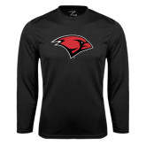 Performance Black Longsleeve Shirt-Cardinal Head
