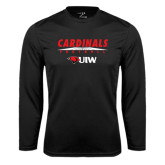 Performance Black Longsleeve Shirt-Football Field