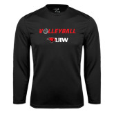 Performance Black Longsleeve Shirt-Volleyball with Ball