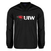 V Neck Black Raglan Windshirt-Cardinal Head UIW