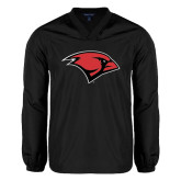 V Neck Black Raglan Windshirt-Cardinal Head