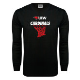 Black Long Sleeve TShirt-Basketball Hanging Net