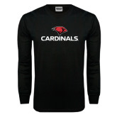 Black Long Sleeve TShirt-Cardinals w/ Cardinal Head
