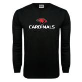 Black Long Sleeve TShirt-Cardinals w/ Cardinal Head