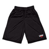 Russell Performance Black 10 Inch Short w/Pockets-UIW Cardinal Head Stacked