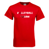 Red T Shirt-Volleyball with Ball