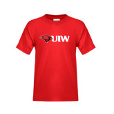 Youth Red T Shirt-Cardinal Head UIW