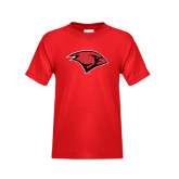 Youth Red T Shirt-Cardinal Head