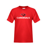 Youth Red T Shirt-Cardinals w/ Cardinal Head