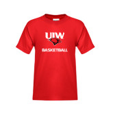 Youth Red T Shirt-Basketball