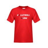 Youth Red T Shirt-Volleyball with Ball