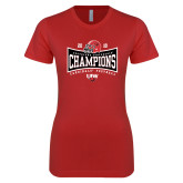 Next Level Ladies SoftStyle Junior Fitted Red Tee-2018 Southland Football Champions