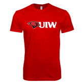Next Level SoftStyle Red T Shirt-Cardinal Head UIW