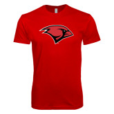 Next Level SoftStyle Red T Shirt-Cardinal Head