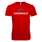 Next Level SoftStyle Red T Shirt-Cardinals w/ Cardinal Head