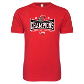 Next Level SoftStyle Red T Shirt-2018 Southland Football Champions