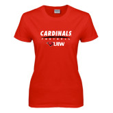 Ladies Red T Shirt-Football Field