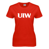 Ladies Red T Shirt-UIW