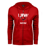 ENZA Ladies Red Fleece Full Zip Hoodie-Mom