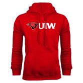 Red Fleece Hoodie-Cardinal Head UIW