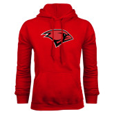 Red Fleece Hood-Cardinal Head