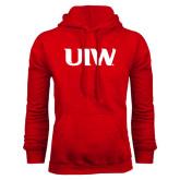 Red Fleece Hoodie-UIW
