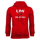 Red Fleece Hood-Volleyball