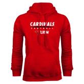Red Fleece Hood-Football Field