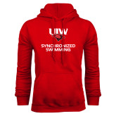 Red Fleece Hoodie-Synchronized Swimming