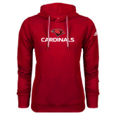 Adidas Climawarm Red Team Issue Hoodie-Cardinals w/ Cardinal Head