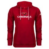 Adidas Climawarm Red Team Issue Hoodie-Cardinals w/ Cardinal Head