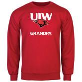 Red Fleece Crew-Grandpa