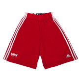 Adidas Climalite Red Practice Short-UIW Cardinal Head Stacked