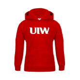 Youth Red Fleece Hoodie-UIW