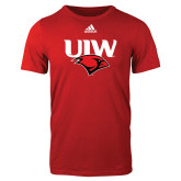 Adidas Red Logo T Shirt-UIW Cardinal Head Stacked