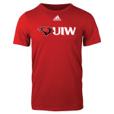 Adidas Red Logo T Shirt-Cardinal Head UIW
