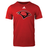 Adidas Red Logo T Shirt-Cardinal Head