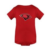 Red Infant Onesie-Cardinal Head