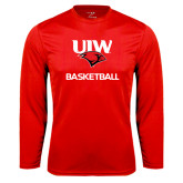 Syntrel Performance Red Longsleeve Shirt-Basketball